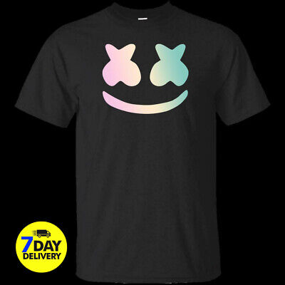 5a84aef3c Marshmello DJ Music T-Shirt Game Gaming EDM Dance Festival Mask Tee S-2XL