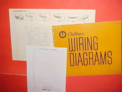 1960 1961 1962 1963 1964 1965 ford thunderbird convertible coupe wiring  diagrams