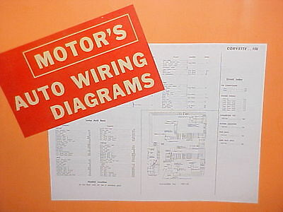 1961 1962 1963 1964 1965 chevrolet corvette convertible stingray wiring  diagrams