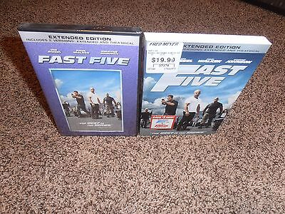 FAST FIVE W/SLIPCOVER dvd BRAND NEW FACTORY SEALED movie