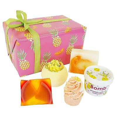 Bomb Cosmetics Totally Tropical Gift Set Luxury Handmade Bath Body Wrapped Box