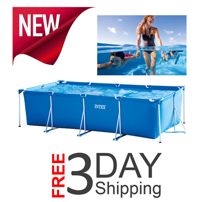 Intex Family Size Pool Rectangular Frame Above Ground Home Garden Swimming Pools