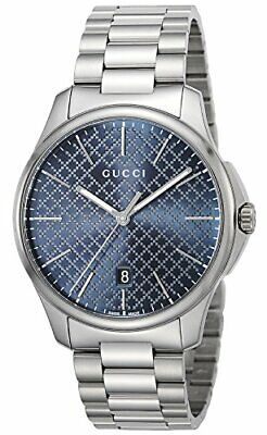 f7aa1154c1c GUCCI MEN S MOONPHASE display G-Timeless Blue Motifs Dial Watch ...