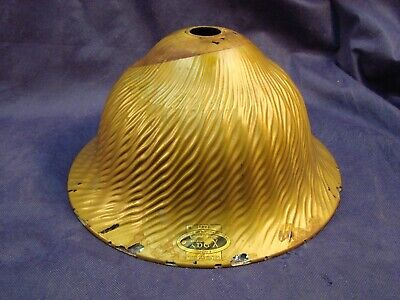 """Antique Vintage X Ray Mercury Glass Reflective Light Lamp Shade 12"""" Gold Paint"""