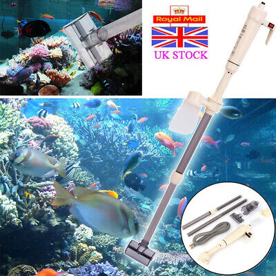 Electric Aquarium Gravel Cleaner Fish Tank Washer Water Changer Pump Filter New