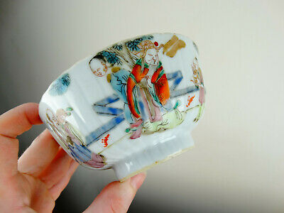 Antique Chinese Famille Rose Porcelain Bowl Tongzhi Mark Qing Dynasty Export