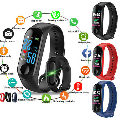 Smart Band Watch Wristband Sport Fitness Tracker Blood Pressure HeartRate NEW