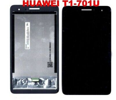 "DISPLAY LCD+TOUCH SCREEN per HUAWEI MEDIAPAD T1 701U 7"" TABLET VETRO"
