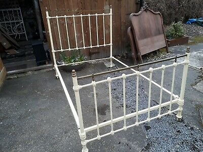 Vintage French Brass And Iron Bed