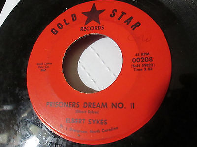 """Elbert Sykes """"Prisoner Dream No. II"""" 'YOUR LOVE"""" Rare Country 45 ON GOLD STAR NC"""