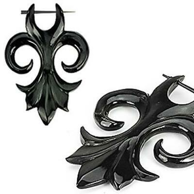 1 Pair Hand Carved Horn Tribal Flower Earrings New Jewelry from Coolbody