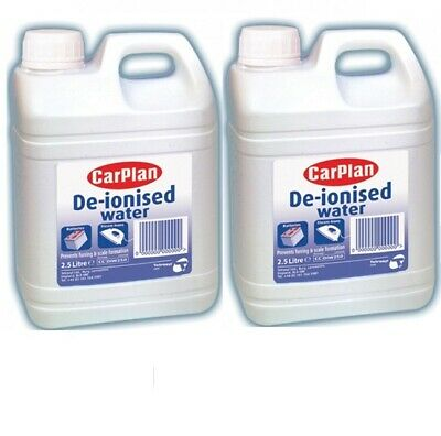 2 x Carplan De-ionised Water 5 Litre for Batteries, Irons DIW250