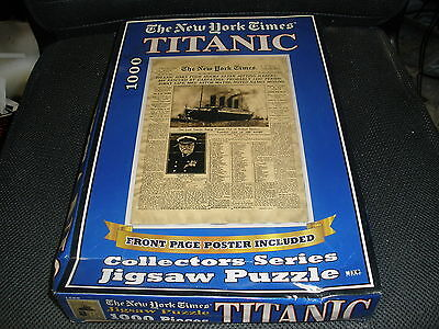 NEW THE NEW YORK TIMES TITANIC 1000 Piece Jigsaw Puzzle