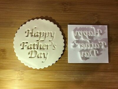 Embossing for cupcake and cake - stamps sugar paste HAPPY FATHER'S DAY