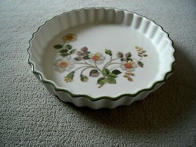 Marks and Spencer's Fluted Flan Dish Autumn Leaves Pattern