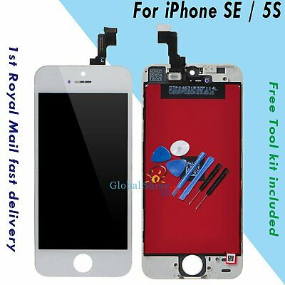 For iPhone SE 5S White LCD Display Touch Screen Digitizer Assembly Replacement