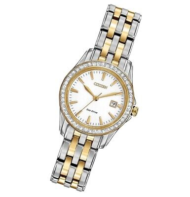 *BRAND NEW* Citizen Women's Eco-Drive Two Tone Stainless  Steel Watch EW1908-59A
