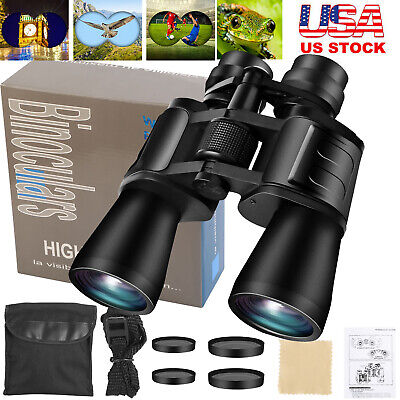 180x100 Zoom Day/Night Vision Outdoor HD Binoculars Hunting Telescope + Case New