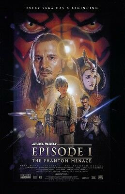"Star Wars movie poster - The Phantom Menace poster 11"" x 17""  - Star Wars poster"