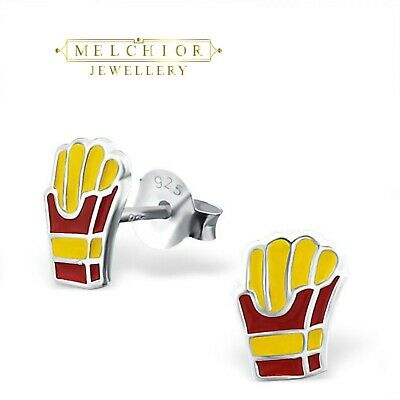 Melchior Jewellery Sterling Silver Womans Girls FRENCH FRIES Stud Earrings Boxed