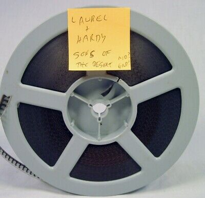 """Old Super 8 Film Laurel and Hardy Sons of the Desert 7"""" Reel 2"""