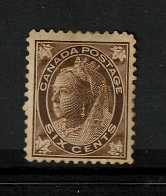 Canada SC# 71, Mint Hinged, Heavy Hinge Remnant, toned gum - S2626