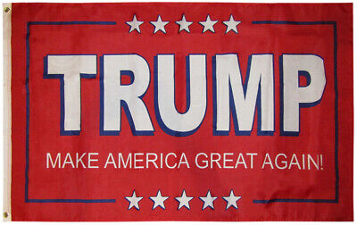 3x5 Trump Make America Great Again! Red 2020 Polyester Flag 3'x5' Grommets (FI)