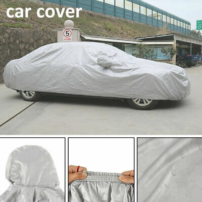 100% Waterproof Medium Full Car Cover Extra Breathable UV Protection Outdoor New