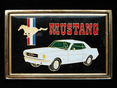 Pf03148 Vintage 1983 **Ford Mustang** Commemorative Solid Brass Belt Buckle
