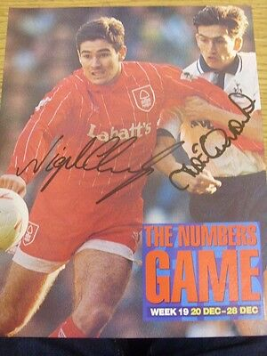 1990's Autograph: Nottingham Forest - Clough, Nigel & Tottenham Hotspur - Edinbu