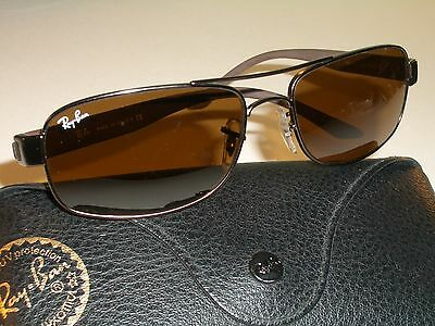 5d8b40a1cf RAY BAN RB3273 57  17mm SLEEK BROWNISH CHROME FRAME B15 DRIVING LENS  SUNGLASSES