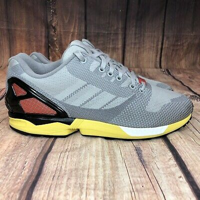 ADIDAS ZX FLUX Weave Running Shoes Grey Mens $39.99