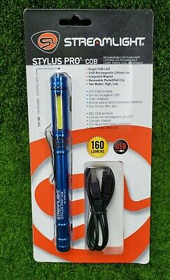 Streamlight 66706 Stylus Pro COB 160 Lumen LED Penlight/Flashlight, Blue
