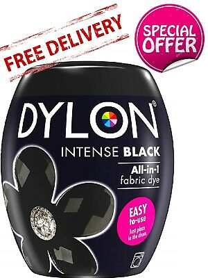 Dylon Machine Dye Pod Intense Black 350G, Powder, Fabric Wash For Colour Clothes