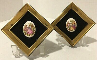 Famed Oval Porcelain Cameos of Fragonard's Love Story, B & S Creations