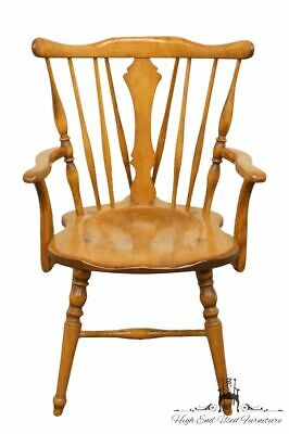 CUSHMAN COLONIAL Hard Rock Maple Colonial Style Dining Arm Chair - Antique Fi...