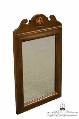 ETHAN ALLEN Antiqued Pine Old Tavern 18x29 Wall Mirror w. Eagle
