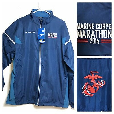 USMC Marine Corps Marathon 2014 Jacket Brooks Brand Running Official Jacket NWT