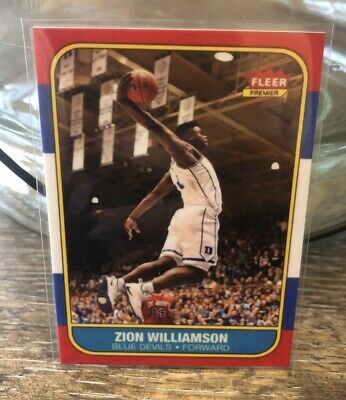 Zion Williamson 1986 Fleer Style Rookie Rc Free Ship