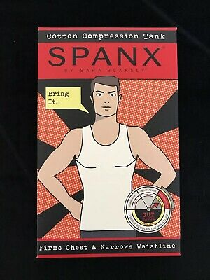 d27f67a6360b61 NEW SPANX MENS Cotton Compression Tank Top Shirt White Medium Large ...