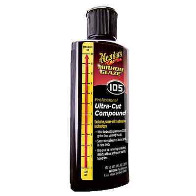 Meguiar's #105 Professional Ultra-Cut Compound Mirror Glaze Swirl Remover, 8 oz.