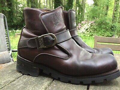 efc2ba3ff1b Vintage Karl Kani Men's Motorcycle Harness Buckle Leather Riding Boots 10.5