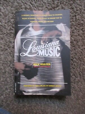"Rick Koster ""Louisiana Music"" 2002 Like New W/Press Release 322 Pg Oop Paperback"