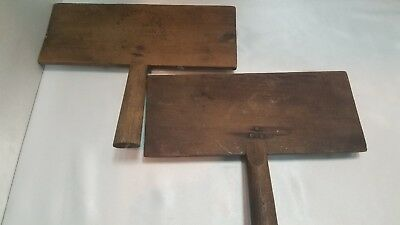 VINTAGE  NO. 10 OLD WHITTEMORE COTTON COMB CARDERS WOOL TOOLS, 2 ,one stamped
