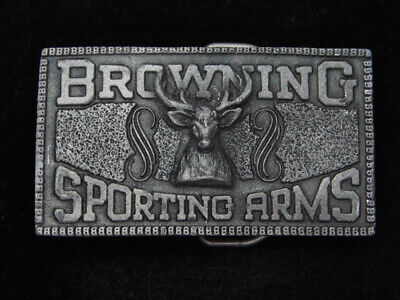 RC01161 VINTAGE 1970s **BROWNING SPORTING ARMS** GUN & FIREARM BELT BUCKLE