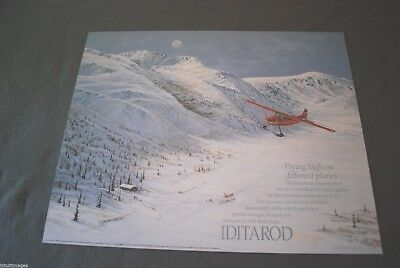 Jon Van Zyle Signed 1998 Iditarod Poster, Iditarod Air Force