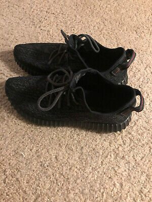 8ab77203acea8 100% AUTHENTIC YEEZY Boost 350 Pirate Black Size 10 2015 PB Yeezy V1 ...