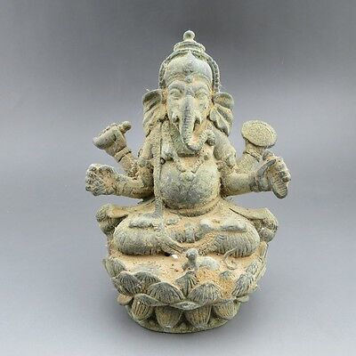 Chinese bronze,noble collection,hand-carved,bronze,elephant god, statue R000