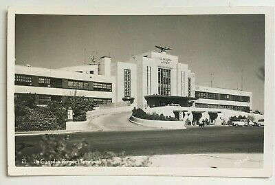 1941 LAGUARDIA AIRPORT New York City Queens RPPC RP Real
