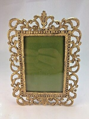 Antique Dore Brass Gilt French Picture Frame